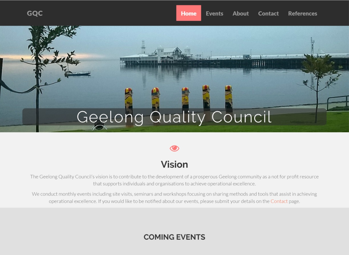 Geelong Quality Centre home page